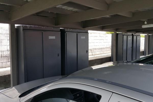 Storage Locker Upright locking secure carpark electric escooter scooter park apartment safe