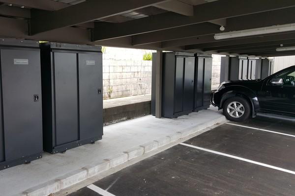 Jaloc Storage Locker Upright locking secure carpark electric escooter scooter park apartment safe