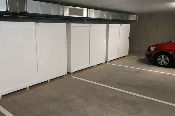 Jaloc Dual Upright Storage Locker Cabinet Sliding Door