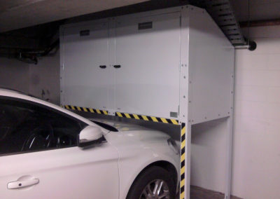 Over Bonnet Jaloc Storage Locker Twin Hinged Door