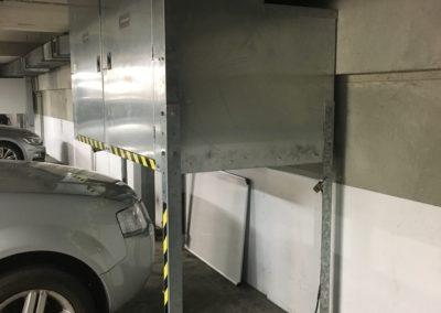 Storage Lockers Over Bonnet, Auckland Viaduct Apartment Carpark