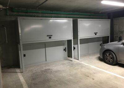 Auckland Apartment Garage Jaloc Over Bonnet Locker and Wine Storage Racks (1)