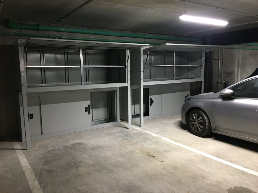 Auckland Apartment Garage Jaloc Over Bonnet Locker and Wine Storage Racks (1)