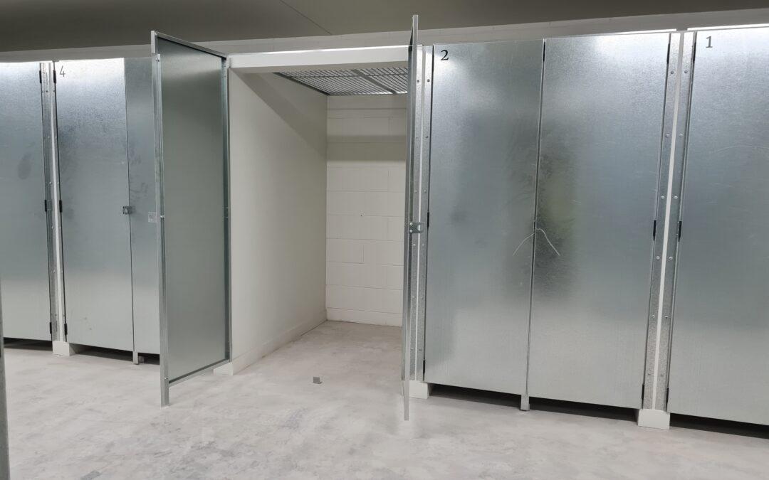 Jaloc Partition Locker Rooms perforated roof galvanized padlock